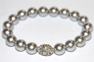 Image of Crystal Pearl Stretch Bracelet