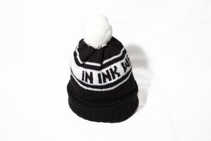 Image of Black & white bobble hat