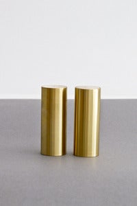 Image of Brass salt and pepper shakers by Ladies and Gentlemen