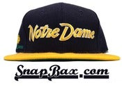 Image of Vintage Deadstock Notre Dame Fighting Irish Sports Specialties Script Snapback Cap