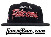 Image of Vintage Deadstock Atlanta Falcons Sports Specialties Script Snapback Cap