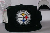 Image of Pittsburgh Steelers Vintage Deadstock Black Snapback Hat Cap **ONLY 1 IN STOCK**