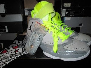 Image of Air Jordan 2012 Deluxe &quot;Neon/Wolf Grey&quot;