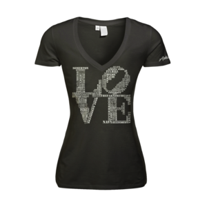 Image of Women's Love - Deep V (Black)