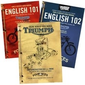 Image of English 101 DVD, English 102 DVD &amp; Triumph 650 Rebuild DVD - 3 DVD Set