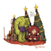 Image of Hulk Sit on Santa