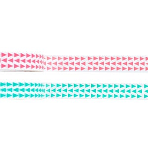 Image of Triangles Tape - 2 Rolls Pink & Green