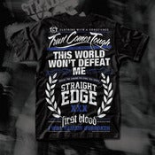 "Image of #2 ""STRAIGHTEDGE"" FIRST BLOOD/TCT COLLABORATION T-SHIRT"