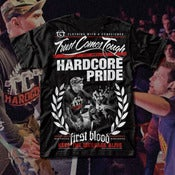 "Image of #3 ""HARDCORE"" FIRST BLOOD/TCT COLLABORATION T-SHIRT"