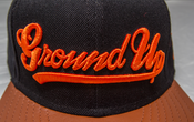 Image of Ground Up Snapback (BLACK/ORANGE)