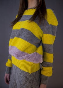 Image of Striped Plush Crew Sweater
