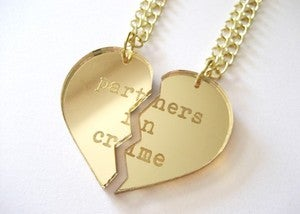 Image of Partners in Crime Necklace Set - Gold