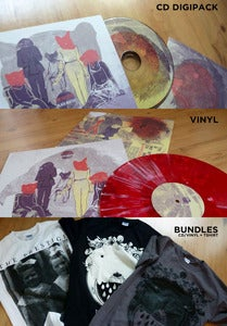Image of 'BLACK MOUTHS' or BUNDLE (Album + Tshirt)