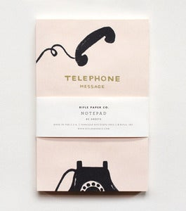 Image of vintage telephone notepad