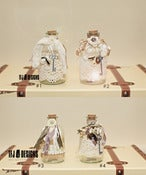 Image of Shabby Chic Glass Bottles Jar - Fairy Jar - NEW - Vintage Inspired Style