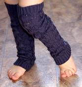 Image of Cable Knit Leg Warmers - GREY and SOFT PINK - NEW - Huggalugs