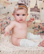Image of Ruffle Leg Warmers - Vanilla Cream or Grey - Newborn &amp; Girl Size - Huggalugs