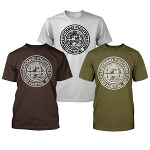 "Image of Ground Fighter ""Last Breath"" Shirts - Green, Brown, & Silver"