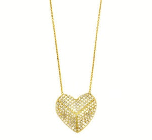 Image of Modern Heart Pendant- Gold