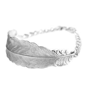 Image of Freedom Feather Bracelet- Silver