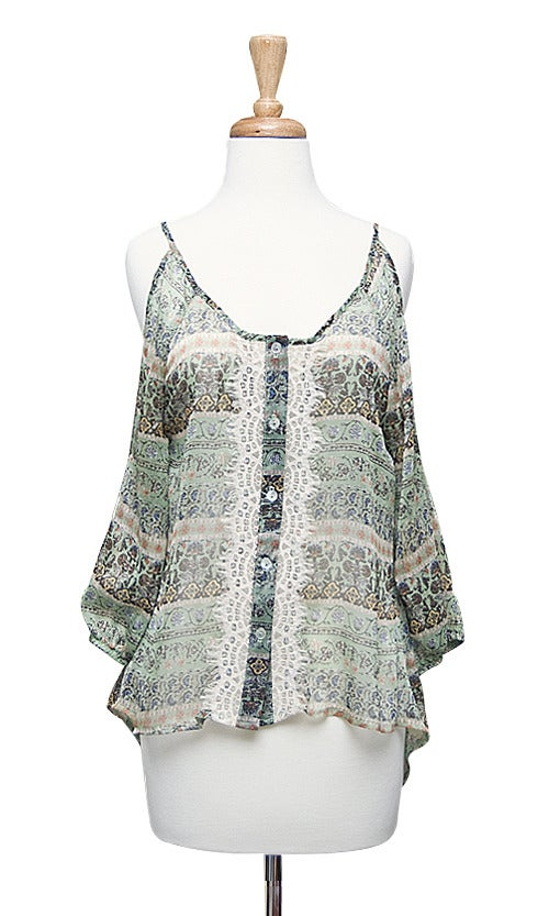 Image of Boho Lace Top