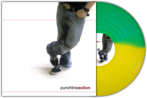 "Image of Punchline<br>'Action'<br>12"" LP (vinyl) [Half Transparent Green, Half Transparent Yellow - ltd. 200]"