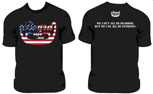 Image of Bearded Veterans **Donation Shirt**  (2 Sided Patiot Quote)