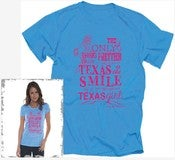 "Image of Girls- ""SMILE of a Texas Girl"" Turquoise and Hott Pink"