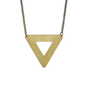 Image of Triangle Outline Necklace
