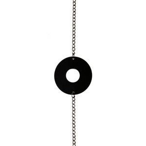 Image of Matte Black Circle Bracelet