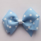 Image of Large Blue Polkadot Bow