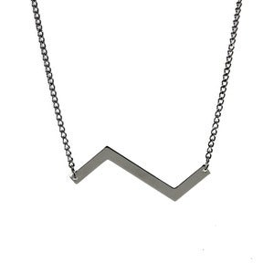 Image of Silver Zigzag Necklace
