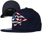 Image of NEW! 10 Deep American Flag Snapback Hat Collection (Navy Blue)