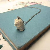 Image of Hedgehog Ceramic Necklace