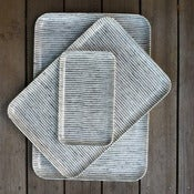 Image of Fog Linen Tray: White/Black Stripes
