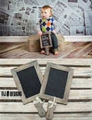 Image of Whitewash Chalkboard with Handle - NEW - Photography Prop
