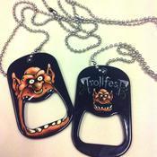 "Image of ""Gegalte"" Dog-tag necklace with beer opener"