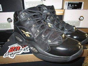 Image of Reebok Question Retro &quot;Black/Gold&quot; 