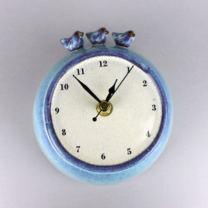 Image of Three Birds Wall Clock