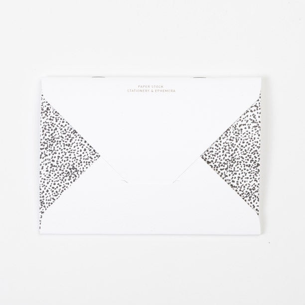 Image of PAPER STOCK White Emboss / Crayon-dot Diamond Flap Notebook