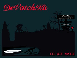 Image of Devotchka- Hollywood Forever Cemetary