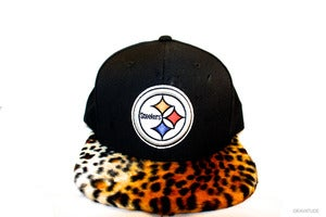 Image of Steelers Cheetah Snapback