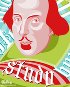"Image of 8x10"" Shakespeare Says Study Poster"