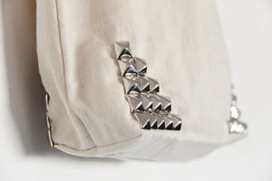 Image of Silver Studded Tote Bag (Limited)