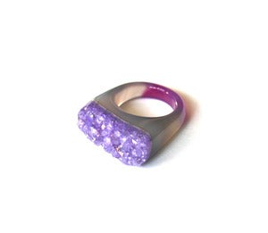 Image of Amethyst Raw Druzy Ring (v3)