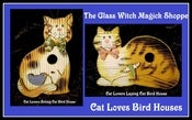 Image of Witch's Cat Lovers Birdhouse