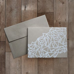 Image of CRYSTALLIZED BLOCK PRINTED GREETING CARD
