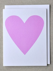 Image of Soft Pink Heart Note Card