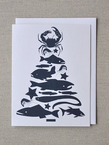 Image of Fish Tree Note Card