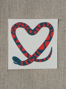 Image of Set of Ten Tattoos: Snake Heart